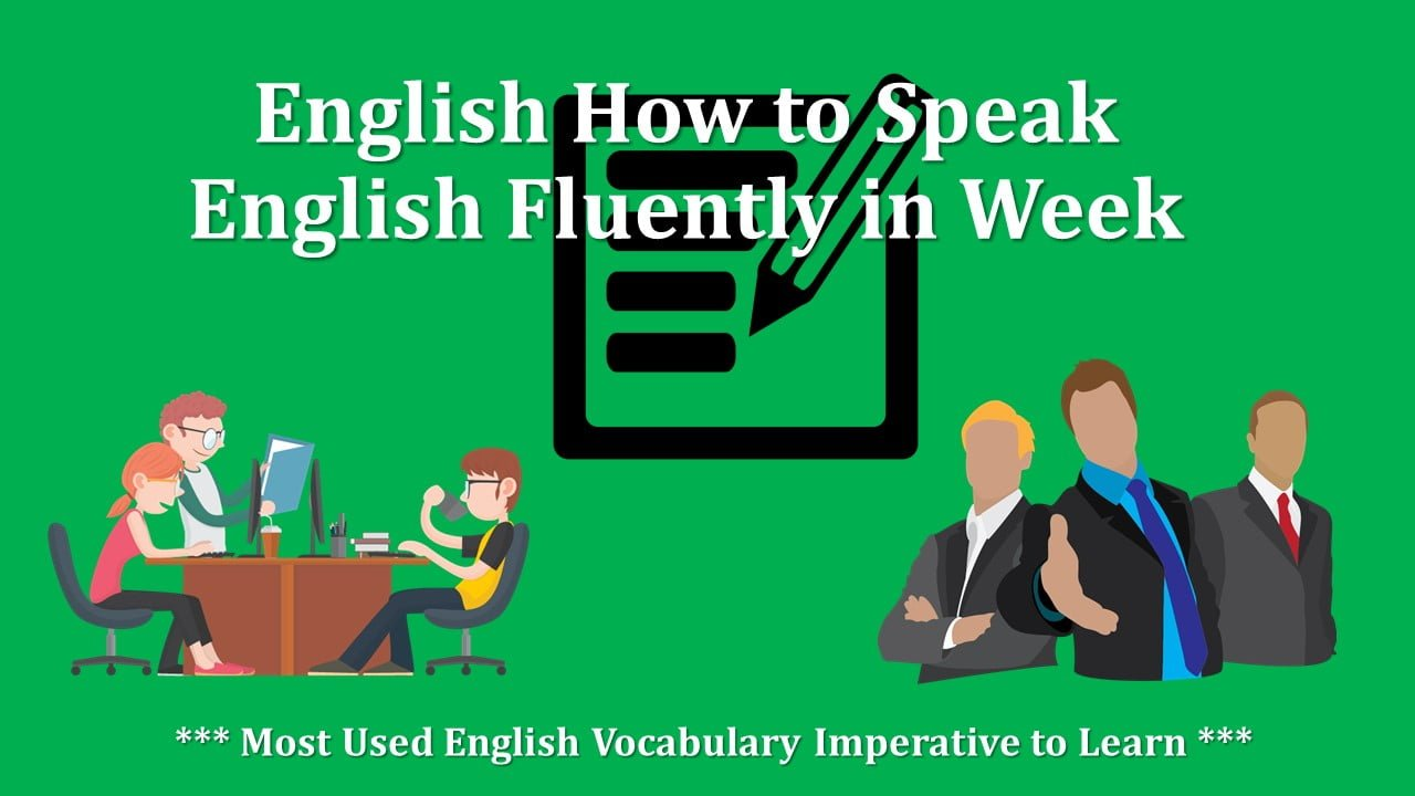 Most Used English Vocabulary Imperative to Learn